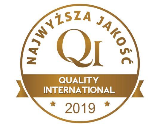 Najwyższa Jakość Quality International 2019